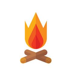 bonfire - flat style icon on white background vector image