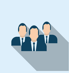 business team icon in flat style vector image vector image