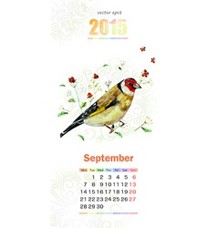 calendar for 2015 september vector image