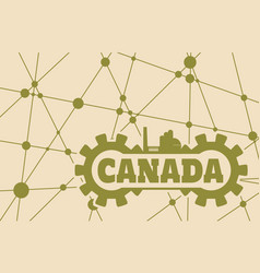canada word build in gear vector image