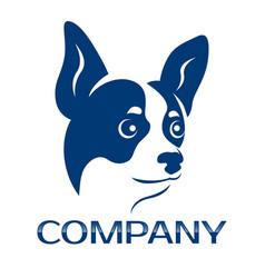 Chihuahua dog logo vector