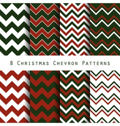 Christmas chevron pattern collection vector
