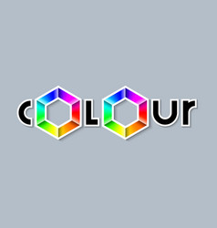 Colour lettering with colourful radial gradient vector