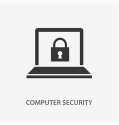computer security icon for vector image