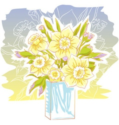 Daffodil bouquet vector