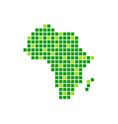 digitally green africa pixels symbol design vector image