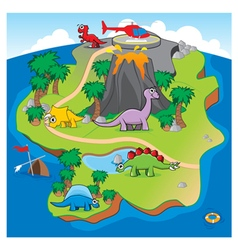Dinosaurs island vector