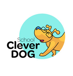 Dog school logo vector