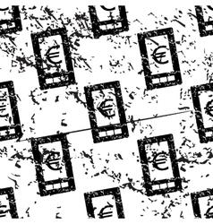 Euro screen pattern grunge monochrome vector