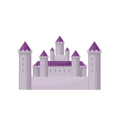 fairy tale castle with high towers and purple vector image