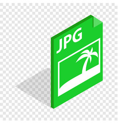 file jpg isometric icon vector image