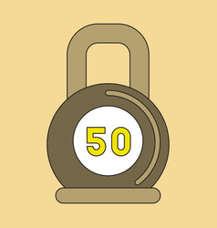 Flat icon on stylish background weight vector