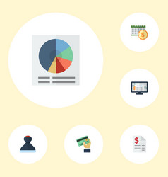 Flat icons deadline accounting system duty and vector