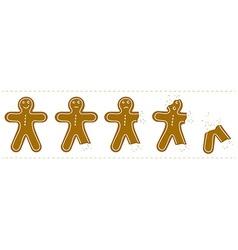 gingerbreadman bites vector image