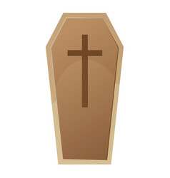 halloween coffin vector image