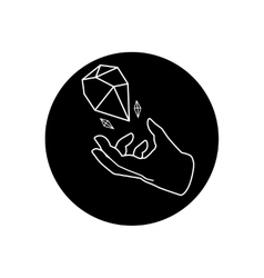 Hand and gem vector image