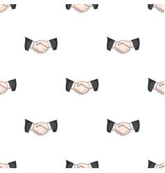 handshakerealtor single icon in cartoon style vector image