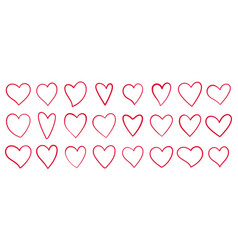 heart love romantic valentine day line icon vector image