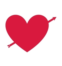 Heart red love icon vector