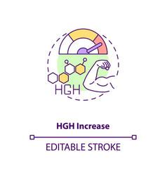 Hgh increase concept icon vector