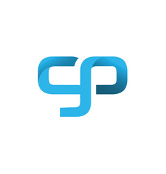 Initial letter gp design logo vector