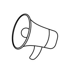 Isolated megaphone icon design vector