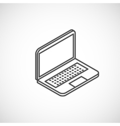 isometric icon laptop vector image