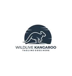 kangaroo design concept template vector image