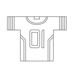 Line icon hockey rugby baseball uniform vector