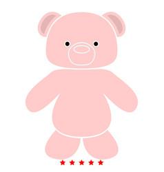 Little bear icon flat style vector