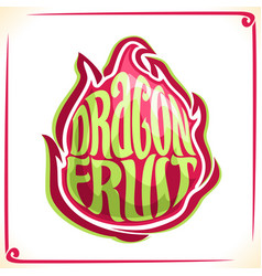 Logo for dragon fruit vector