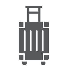 luggage glyph icon travel and tourism travel bag vector image