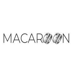 macaroon promo text vintage label vector image