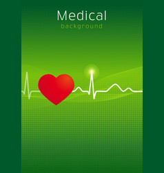 Medical cardiology background vector