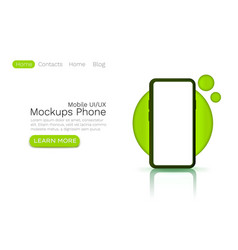 mockups ui template web site banner app screen vector image