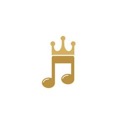 music king logo icon design vector image
