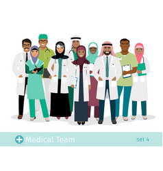 muslim hospital team vector image