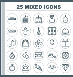 New icons set collection air ball brilliant vector