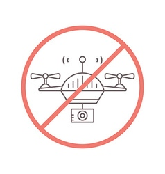 No Drones Allowed vector