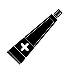 ointment cream tube medicine pictogram vector image
