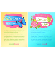 only today spring sale discount premium posters vector image