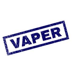 Rectangle grunge vaper stamp vector