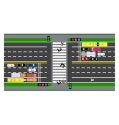 Road infographics plot road highway street vector