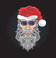 santa claus christmas beard barber man vector image