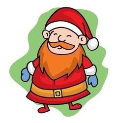 Santa smilling Christmas character stock vector