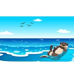 Sea otter vector