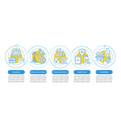 services industry infographic template business vector image