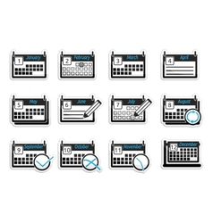 Set of icons calendars vector image