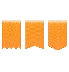 Set of orange bookmarks vector image