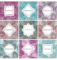 Set of postcards vector